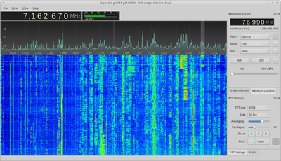 Screenshot Programm gqrx